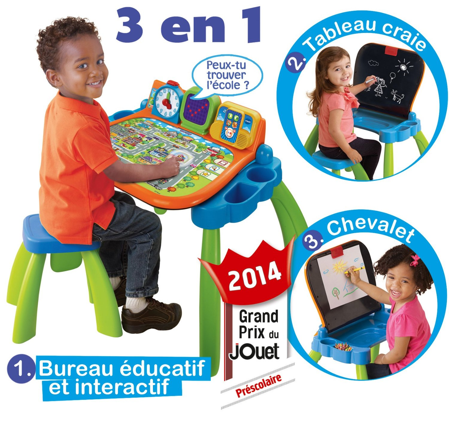 interactive bureau for 2 years old / toys for 2 years old 3 in 1 desktop from Vtech