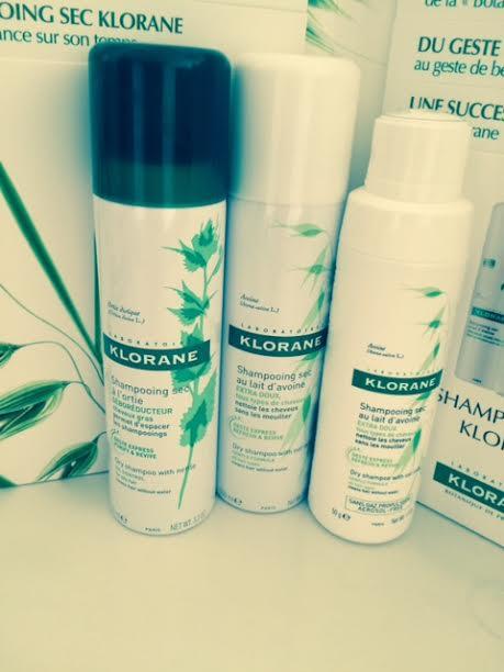 shampoing sec klorane