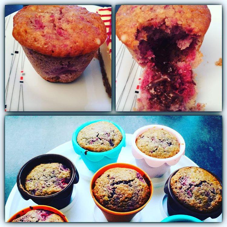muffins-framboises