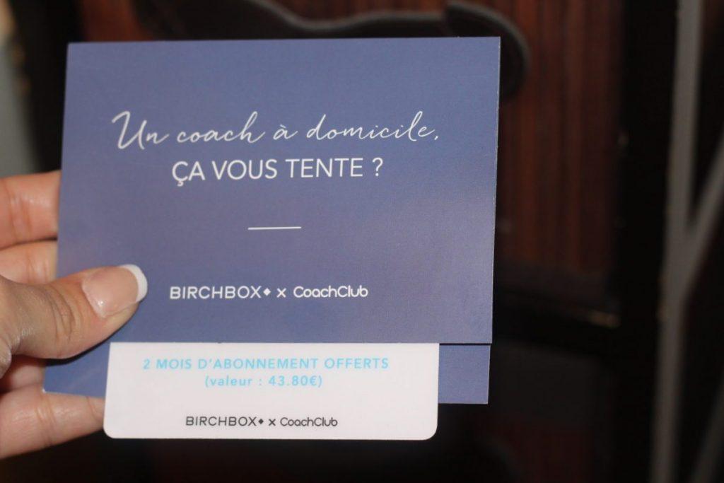 coach club birchbox de janvier