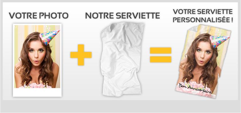serviette personnalisée pictowel